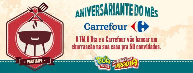 Promoção Aniversariante do mes Carrefour