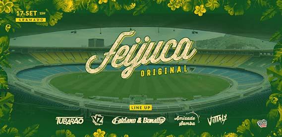 Feijuca Original no estádio do Maracanã