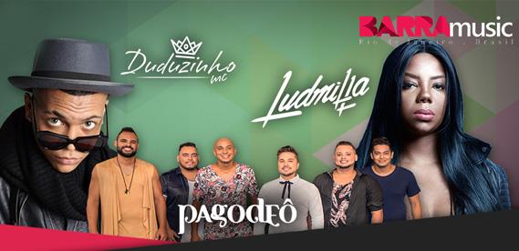 Show Ludmilla Duduzinho Pagodeo no Barra Music