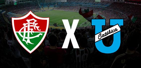 Fluminense e Universidad Catolica no Maracana