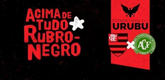 Flamengo e Chapecoense, no Estádio Ilha do Urubu