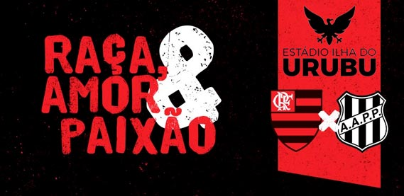 Flamengo e Ponte Preta, no Estádio Ilha do Urubu
