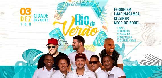 Rio Verão com Dilsinho, Ferrugem, Nego do Borel e Imaginsamba