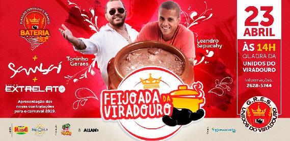 Feijoada de São Jorge com Leandro Sapucahy, na Quadra da Viradouro
