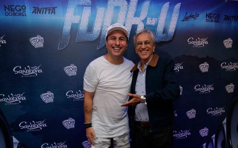 DJ Tubarão e Caetano Veloso, no Funk-U