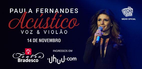 Paula Fernandes na turnê Voz e Violão