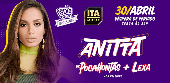 FM O Dia Apresenta Anitta, Pocahontas e Lexa