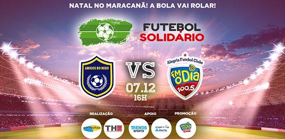 Futebol Solidário no Maraca