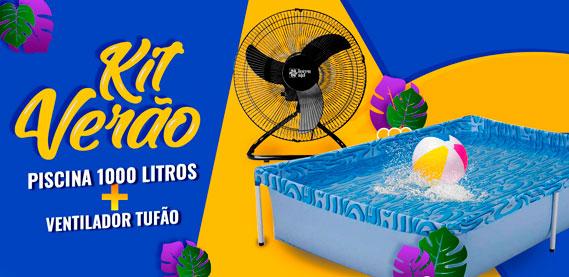 KIT VERÃO - TUFÃO E PISCINA DE MIL LITRO